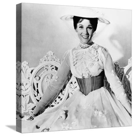 Mary Poppins, Julie Andrews, 1964--Stretched Canvas Print