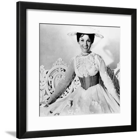 Mary Poppins, Julie Andrews, 1964--Framed Art Print