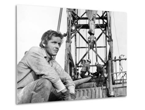 Five Easy Pieces, Jack Nicholson, 1970, Working at the Oil Well--Metal Print