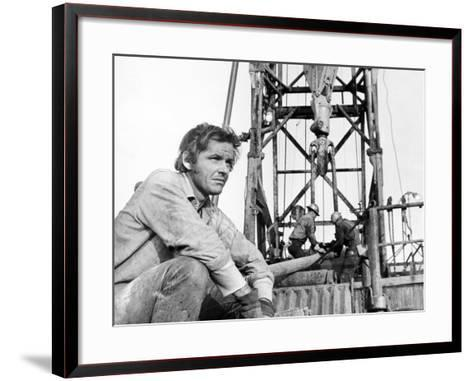 Five Easy Pieces, Jack Nicholson, 1970, Working at the Oil Well--Framed Art Print