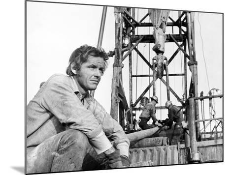 Five Easy Pieces, Jack Nicholson, 1970, Working at the Oil Well--Mounted Photo