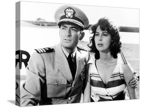 On the Beach, Gregory Peck, Ava Gardner, 1959--Stretched Canvas Print