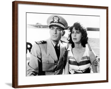 On the Beach, Gregory Peck, Ava Gardner, 1959--Framed Art Print