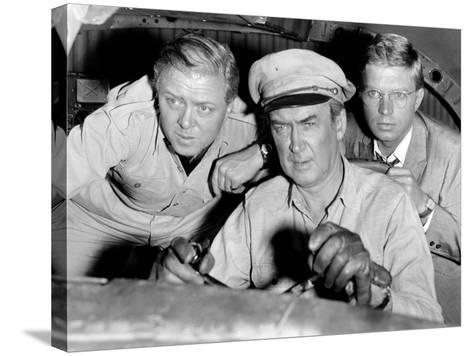 The Flight of the Phoenix, L-R: Richard Attenborough, James Stewart, Hardy Kruger, 1965--Stretched Canvas Print
