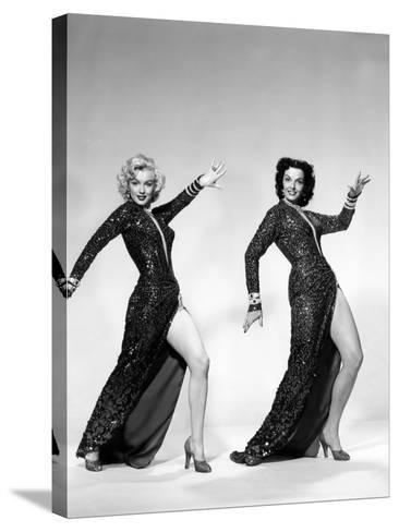 Gentlemen Prefer Blondes, Marilyn Monroe, Jane Russell, 1953--Stretched Canvas Print
