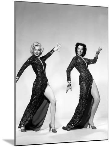 Gentlemen Prefer Blondes, Marilyn Monroe, Jane Russell, 1953--Mounted Photo