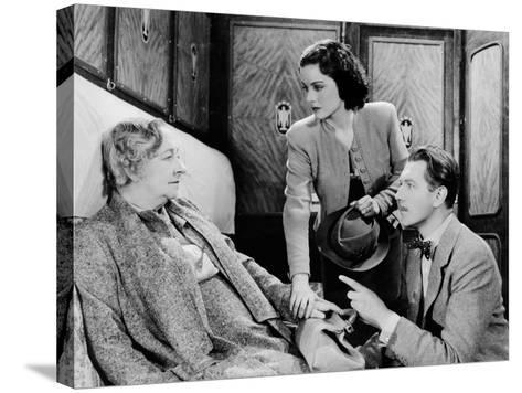The Lady Vanishes, Dame May Whitty, Margaret Lockwood, Michael Redgrave, 1938--Stretched Canvas Print