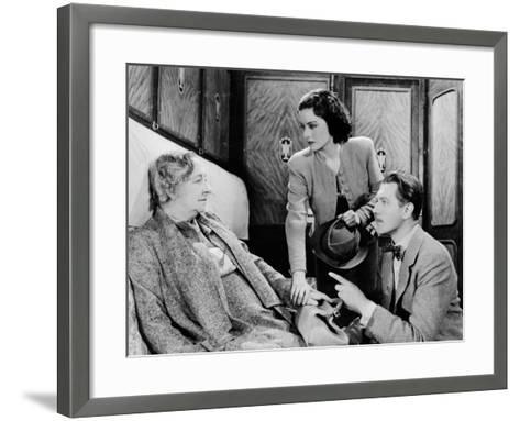 The Lady Vanishes, Dame May Whitty, Margaret Lockwood, Michael Redgrave, 1938--Framed Art Print