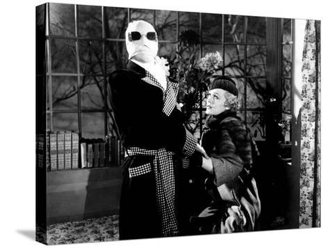 The Invisible Man, Claude Rains, Gloria Stuart, 1933--Stretched Canvas Print