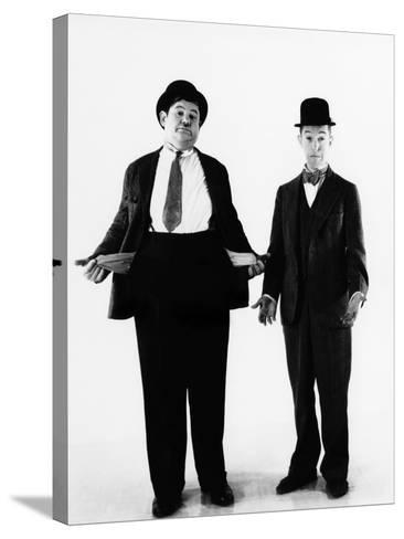 Laurel and Hardy, ca. 1930s--Stretched Canvas Print