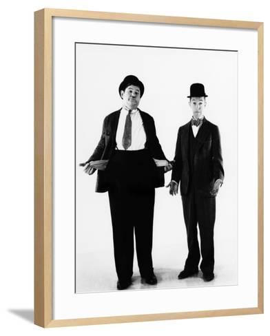 Laurel and Hardy, ca. 1930s--Framed Art Print