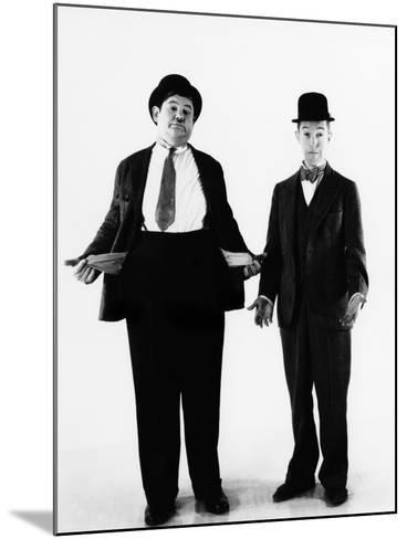 Laurel and Hardy, ca. 1930s--Mounted Photo