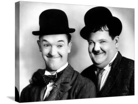 Laurel and Hardy--Stretched Canvas Print