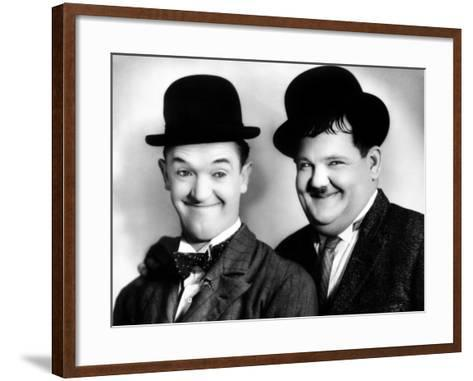 Laurel and Hardy--Framed Art Print