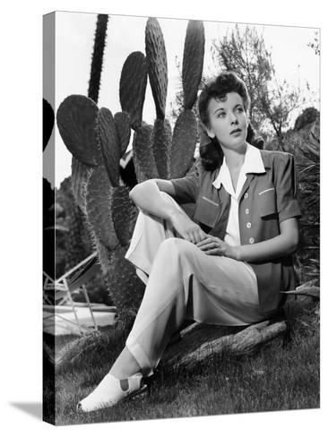 Ida Lupino, Portrait Used in Photoplay May 1941--Stretched Canvas Print