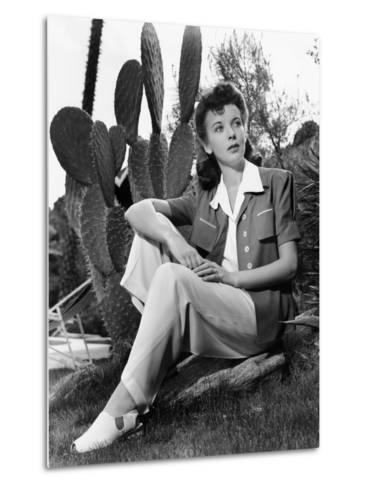 Ida Lupino, Portrait Used in Photoplay May 1941--Metal Print