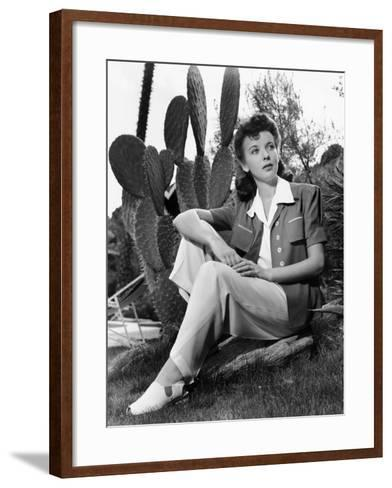 Ida Lupino, Portrait Used in Photoplay May 1941--Framed Art Print