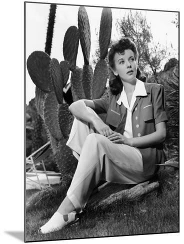 Ida Lupino, Portrait Used in Photoplay May 1941--Mounted Photo