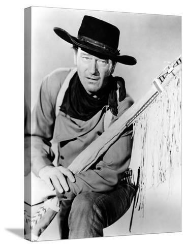 The Searchers, John Wayne, 1956--Stretched Canvas Print