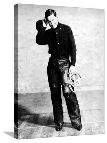Will Rogers, Early Portrait--Stretched Canvas Print