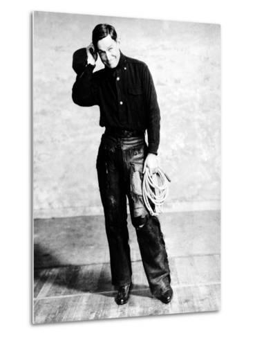 Will Rogers, Early Portrait--Metal Print