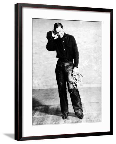 Will Rogers, Early Portrait--Framed Art Print