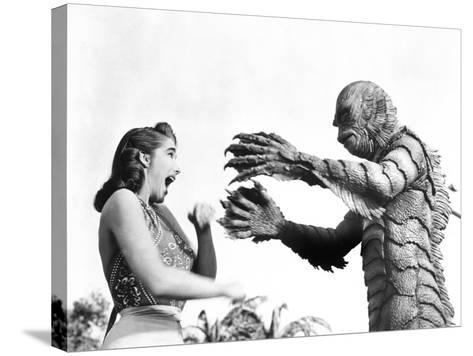 Creature from the Black Lagoon, Julie Adams, Ben Chapman, 1954--Stretched Canvas Print
