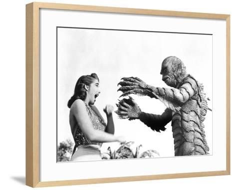Creature from the Black Lagoon, Julie Adams, Ben Chapman, 1954--Framed Art Print
