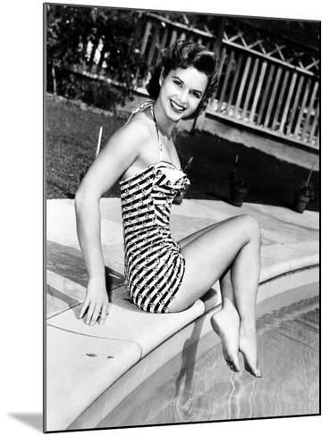 Debbie Reynolds Poolside, 1954--Mounted Photo