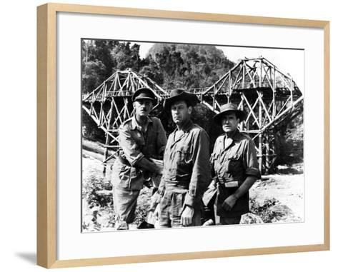 The Bridge on the River Kwai, Alec Guinness, William Holden, Jack Hawkins, 1957--Framed Art Print
