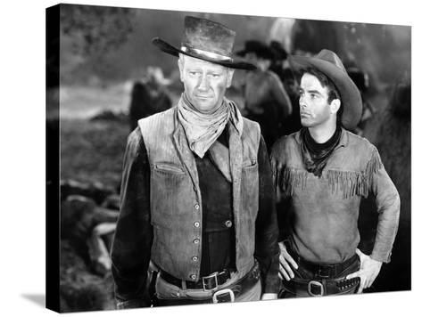 Red River, John Wayne, Montgomery Clift, 1948--Stretched Canvas Print