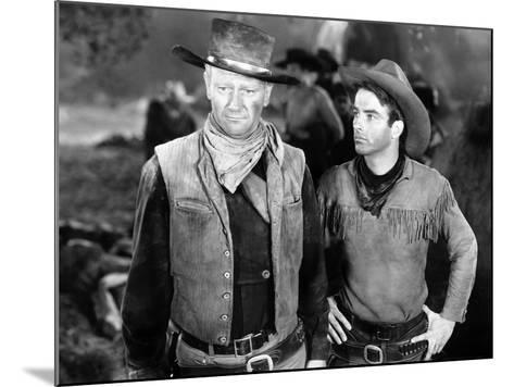 Red River, John Wayne, Montgomery Clift, 1948--Mounted Photo