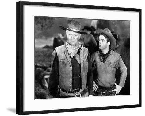 Red River, John Wayne, Montgomery Clift, 1948--Framed Art Print