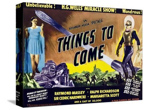 Things to Come, From Left: Margaretta Scott, Raymond Massey, 1936--Stretched Canvas Print