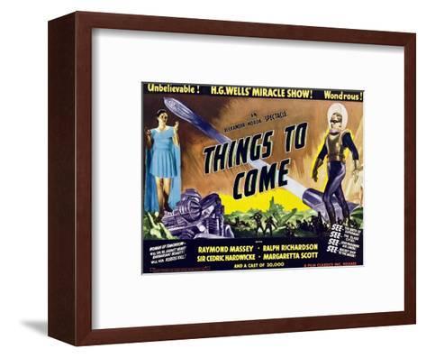 Things to Come, From Left: Margaretta Scott, Raymond Massey, 1936--Framed Art Print