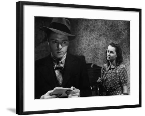 Brighton Rock, Richard Attenborough, Carol Marsh, 1947--Framed Art Print