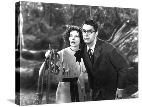 Bringing Up Baby, Katharine Hepburn, Cary Grant, 1938--Stretched Canvas Print