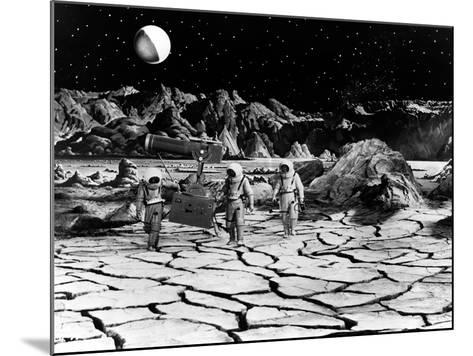 Destination Moon, Astronauts Explore The Lunar Terrain, 1950--Mounted Photo