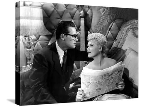 Born Yesterday, William Holden, Judy Holliday, 1950--Stretched Canvas Print