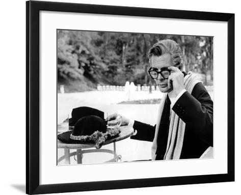 8 1/2, Marcello Mastroianni, 1963--Framed Art Print