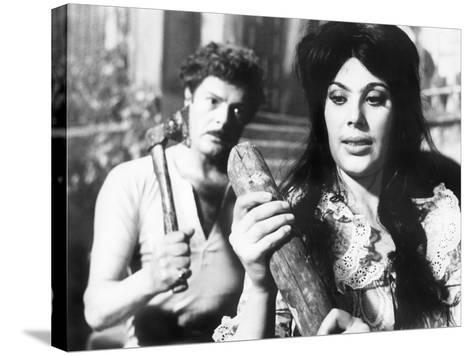 Divorce - Italian Style, Marcello Mastroianni, Daniela Rocca, 1961--Stretched Canvas Print