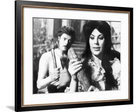 Divorce - Italian Style, Marcello Mastroianni, Daniela Rocca, 1961--Framed Art Print