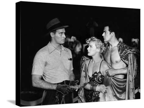 The Greatest Show On Earth, Charlton Heston, Betty Hutton, Cornel Wilde, 1952--Stretched Canvas Print