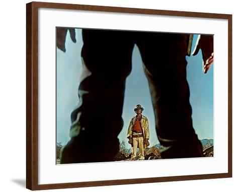 Once Upon A Time In The West, Charles Bronson, Henry Fonda, 1968--Framed Art Print