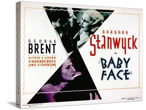 Baby Face, Douglass Dumbrille, Barbara Stanwyck, 1933--Stretched Canvas Print