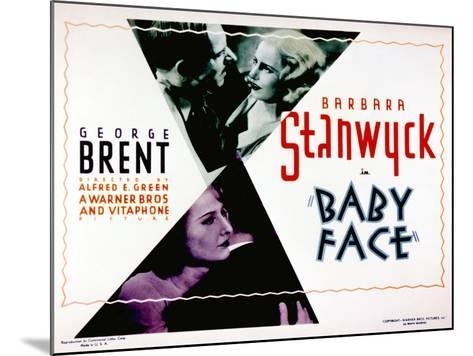 Baby Face, Douglass Dumbrille, Barbara Stanwyck, 1933--Mounted Photo
