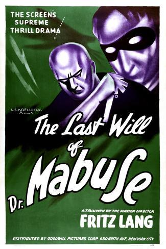 The Testament Of Dr. Mabuse, (aka Das Testament Des Dr. Mabuse), 1933--Stretched Canvas Print
