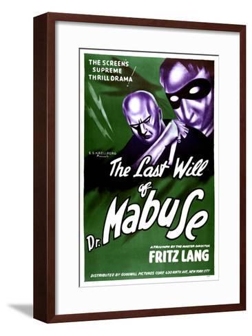 The Testament Of Dr. Mabuse, (aka Das Testament Des Dr. Mabuse), 1933--Framed Art Print