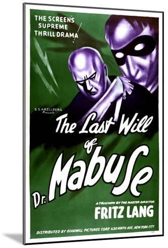 The Testament Of Dr. Mabuse, (aka Das Testament Des Dr. Mabuse), 1933--Mounted Photo
