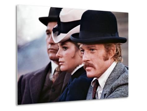 Butch Cassidy And The Sundance Kid, Paul Newman, Katharine Ross, Robert Redford, 1969--Metal Print